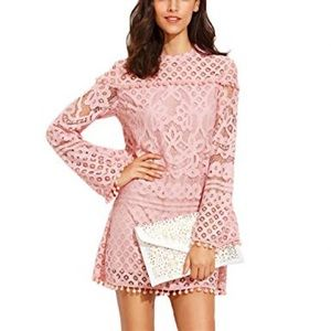 Dresses & Skirts - Pink crochet dress (420)